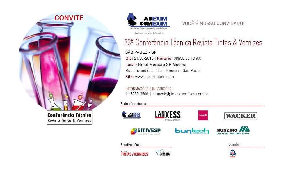 33ª Conferência Técnica Revista Tintas & Vernizes
